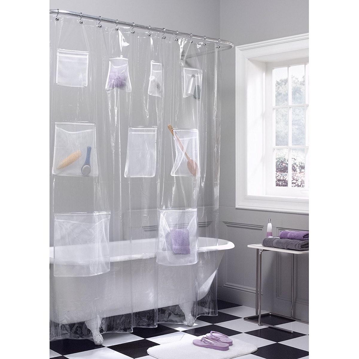 MAYTEX Quick-Dry Pocket Shower Curtain