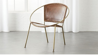 Micaela Brown Leather Chair