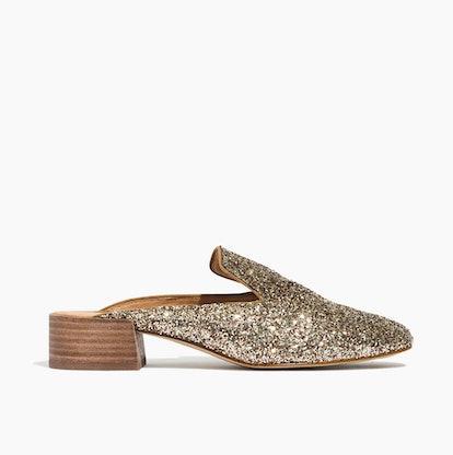 The Willa Loafer Mule in Glitter