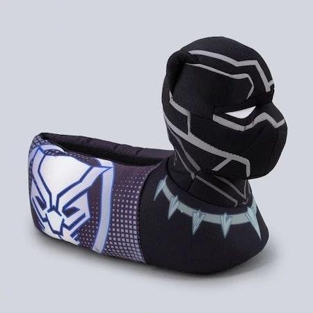 Toddler Boys' Black Panther Bootie Slipper - Black