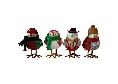 Fabric Toymaker Bird Holiday Figurine Set