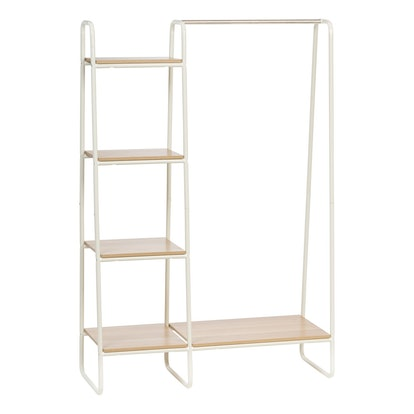 IRIS Metal Garment Rack with Wood Shelves