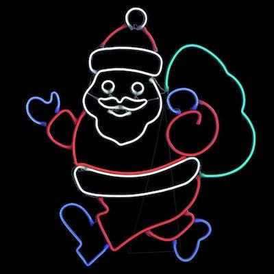 """34.5"""" Christmas LED Faux Neon Santa"""