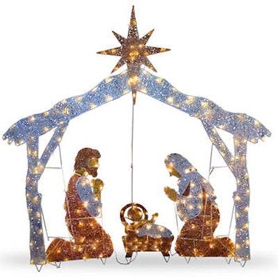 """72"""" Crystal Nativity"""