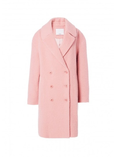 Tibi Luxe Mohair Double Breasted Coat