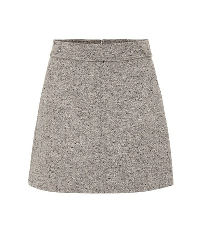 Klara Wool-Blend Miniskirt