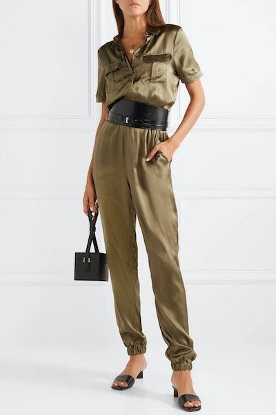 The Maddi Silk-Charmeuse Jumpsuit