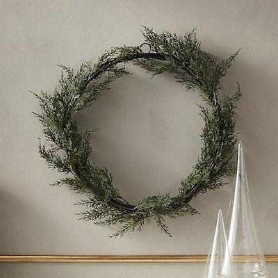 "Faux Cedar Wreath 18"""