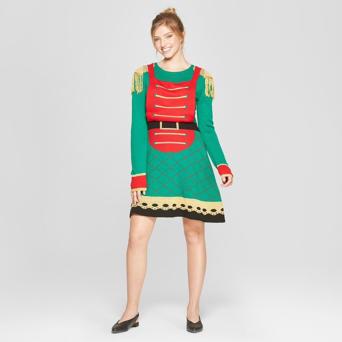 Women's Ugly Christmas Toy Soldier Dress