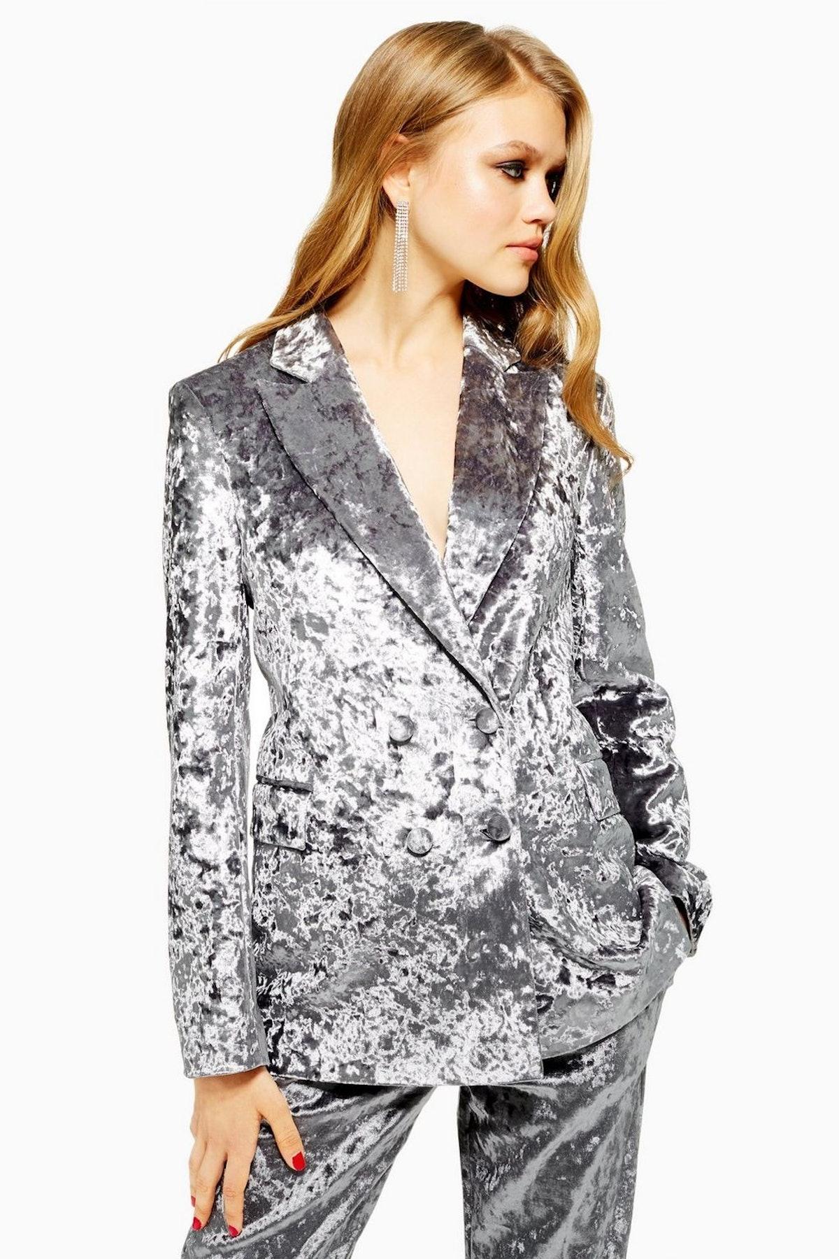 Bonded Velvet Jacket