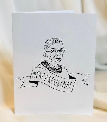 """Ruth Bader Ginsburg Holiday Card """"Merry Resistmas"""""""