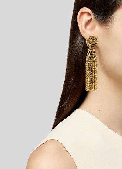 Classic Short Tassel Chain Drop Earrings