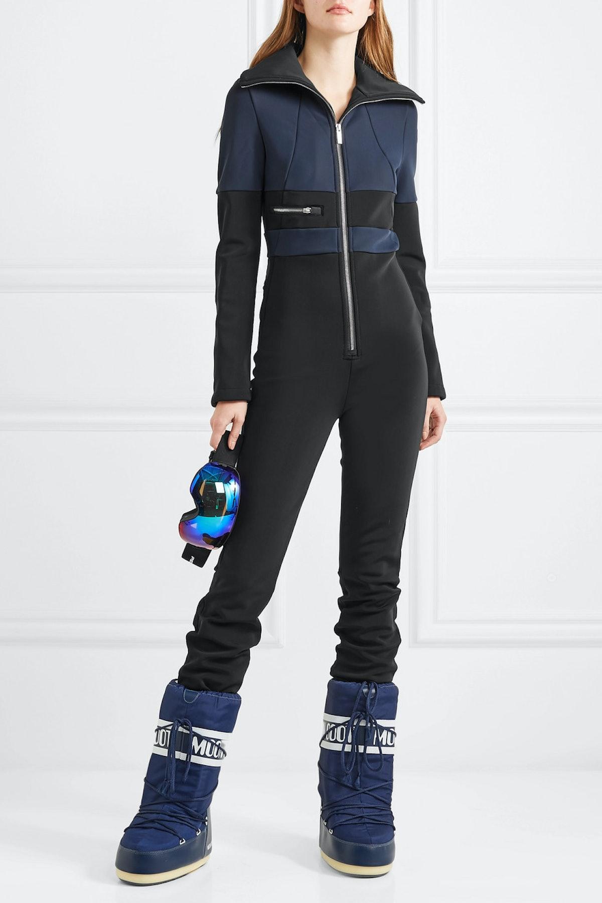 Grazzia Color-Block Stretch-Shell Ski Suit