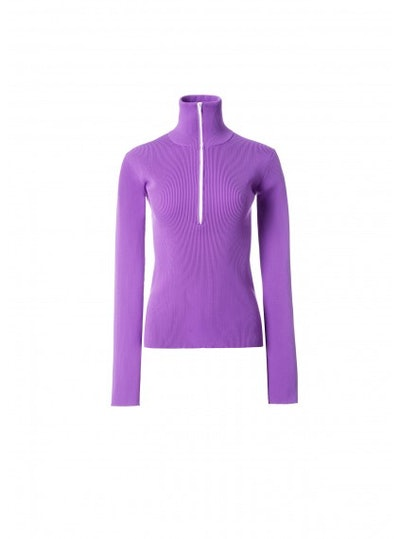 Tibi Tech Poly Track Zip Up Pullover