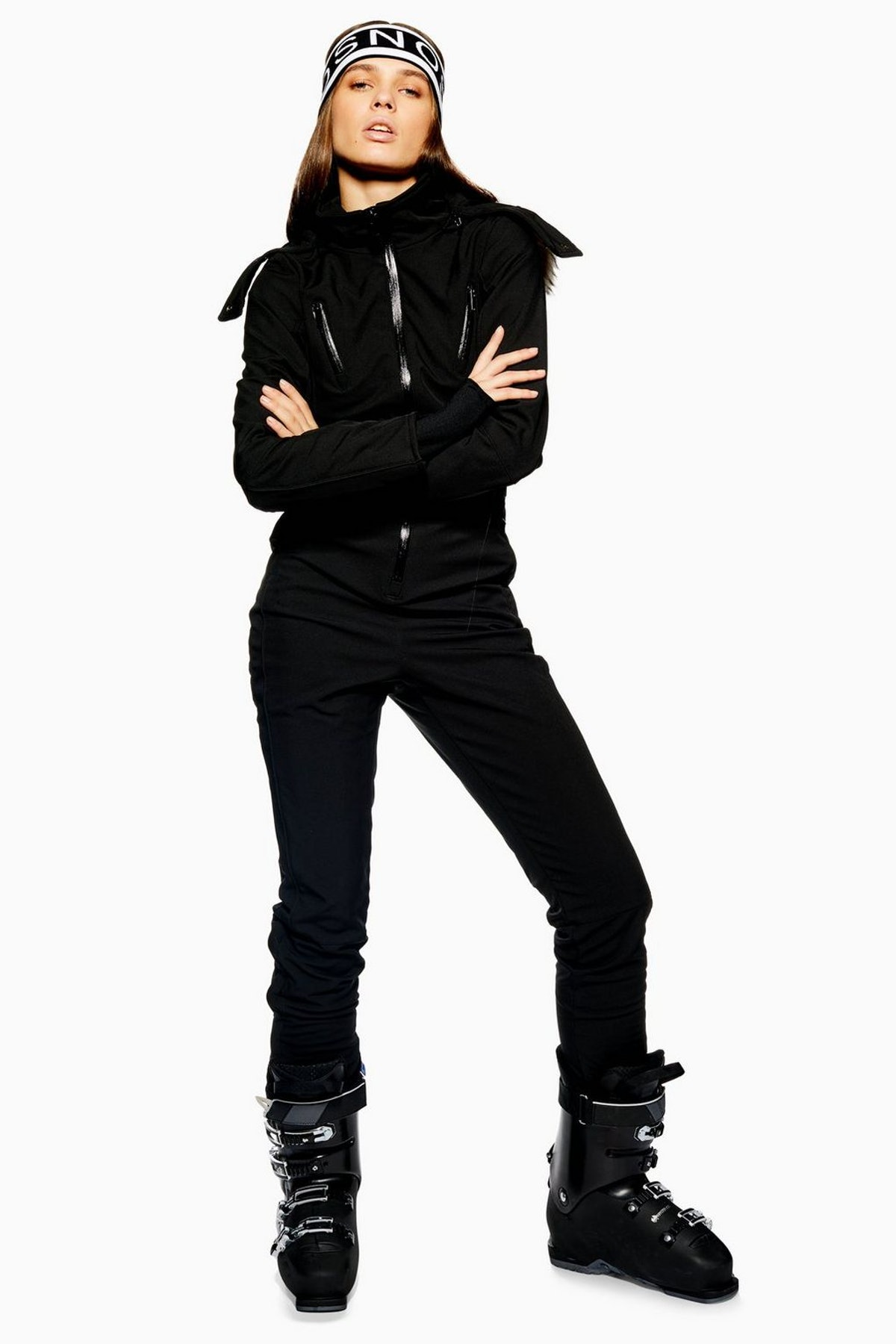 Black Hooded Snow Suit