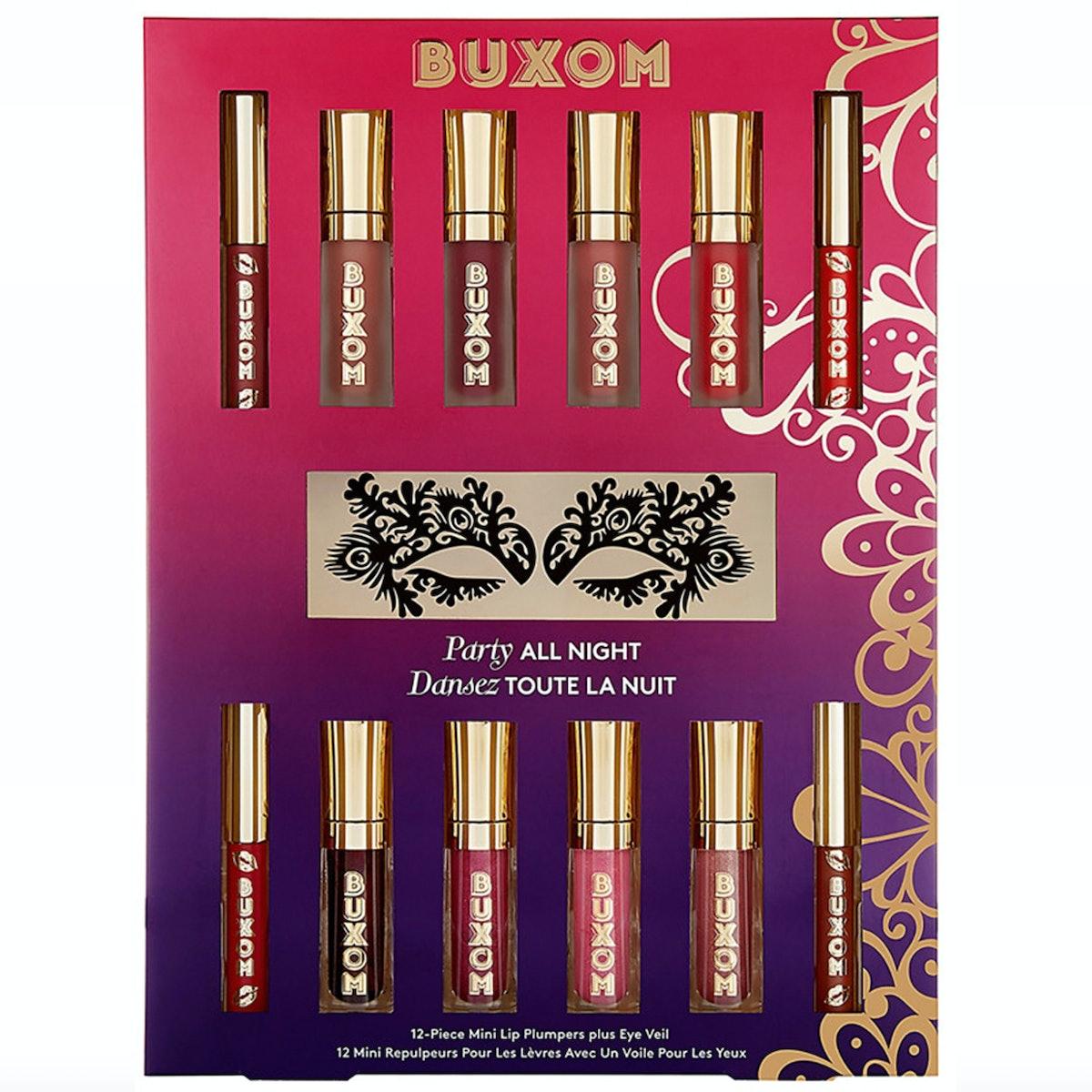 Buxom Party All Night 12-Piece Mini Lip Plumpers Plus Eye Veil