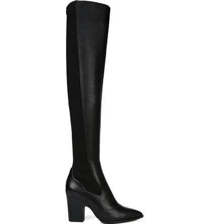 Natasha Stretch-Leather Over-the-Knee Boots