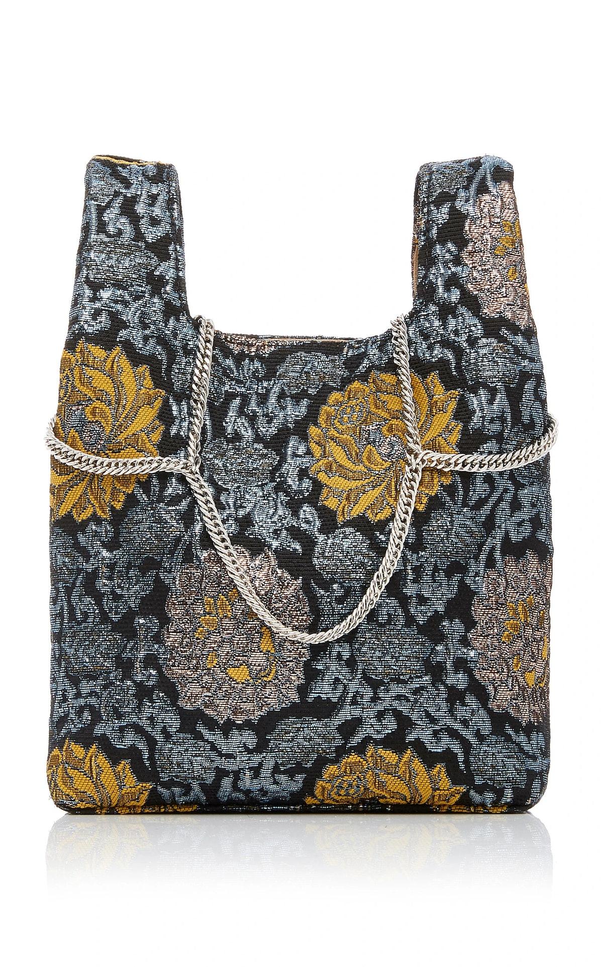 Venetian Chain Strap Brocade Mini Shopper