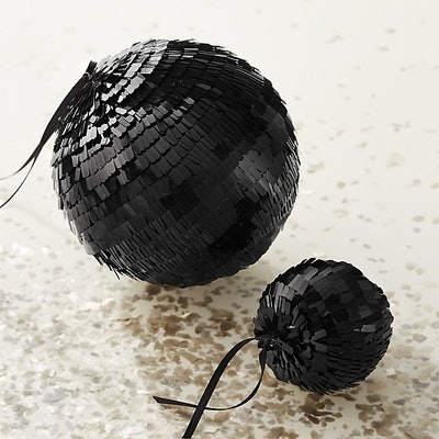 Flapper Large Black Disco Ball Ornament