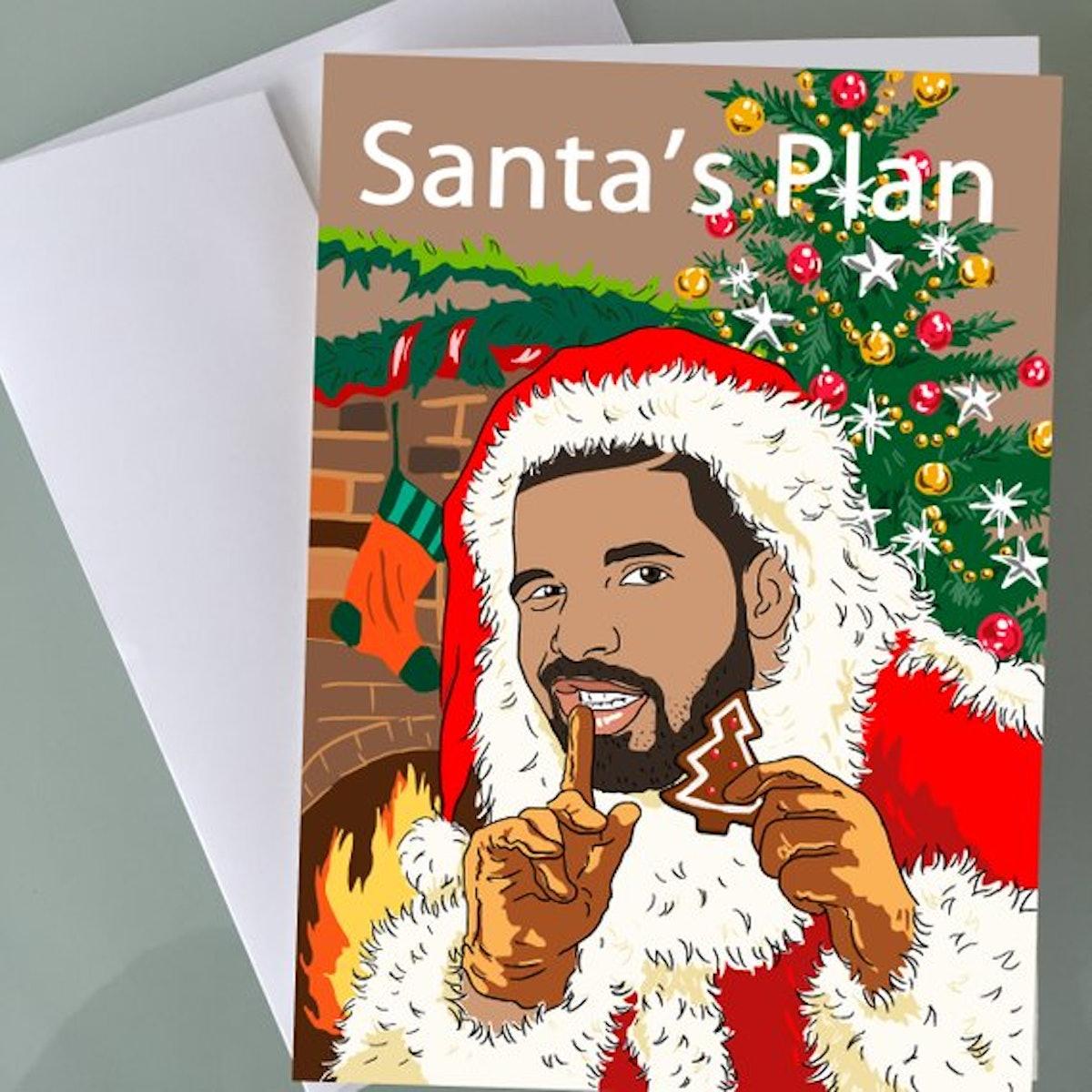 """Drake's """"Santa's Plan"""" Holiday Card"""