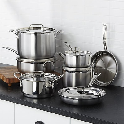 Cuisinart ® Multiclad Pro ™ Triple-Ply Stainless Steel 12-Piece Cookware Set
