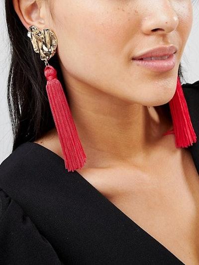 Ivyrevel Heart Tassel Earrings