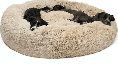 Best Friends by Sheri Shag Donut Bed