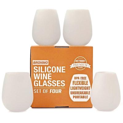 Brovino Silicone Wine Glasses (Set of 4)