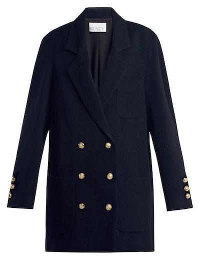Drop-Shoulder Cashmere Blend Blazer