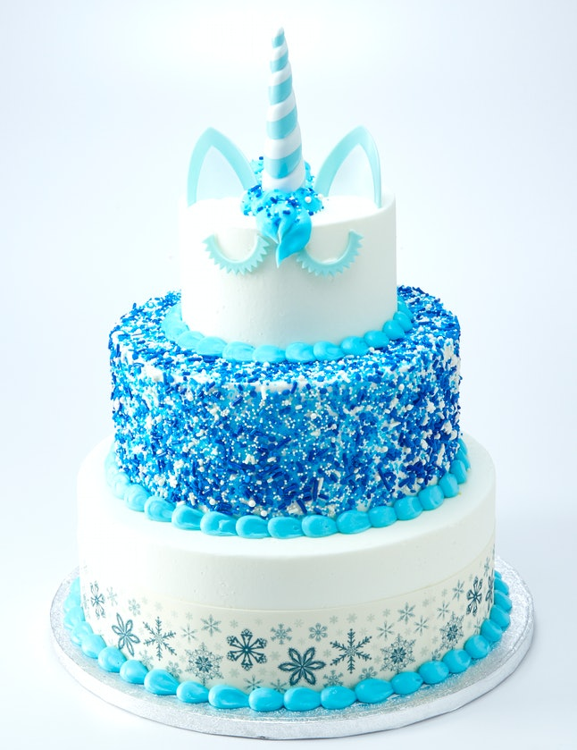 Awesome The 3 Tier Christmas Unicorn Cake At Sams Club Is A Must Have For Funny Birthday Cards Online Alyptdamsfinfo