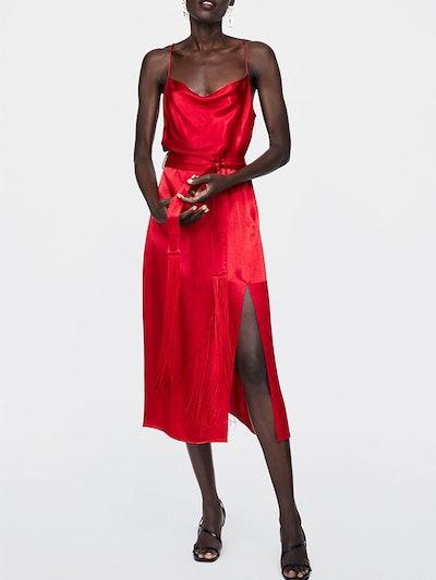 Fringed Dress With Belt