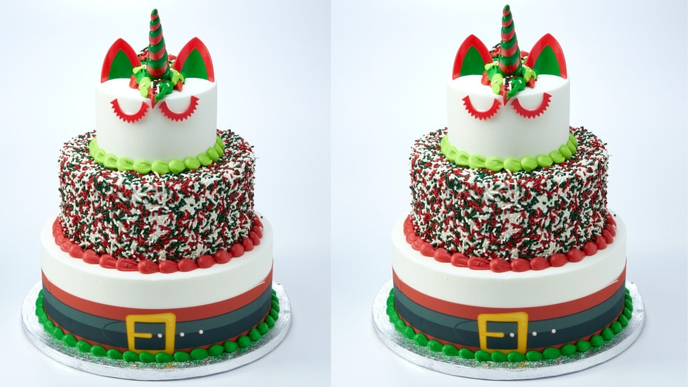 The 3 Tier Christmas Unicorn Cake At Sams Club Is A Must Have For Your Holiday Parties