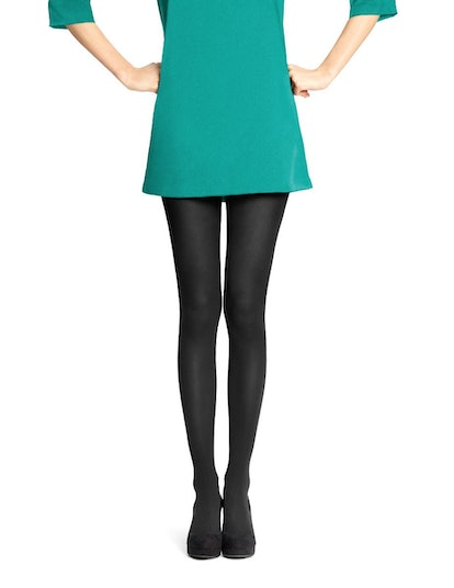 Super-Opaque Control-Top Tights