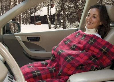 Trillium Worldwide Car Cozy Heated Travel Blanket