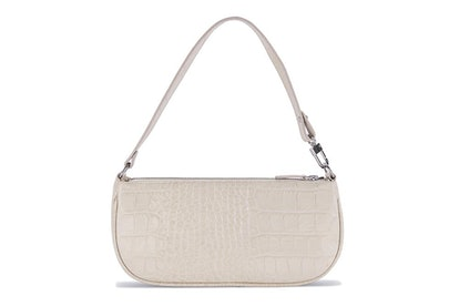 Cream Croco Embossed Rachel Bag