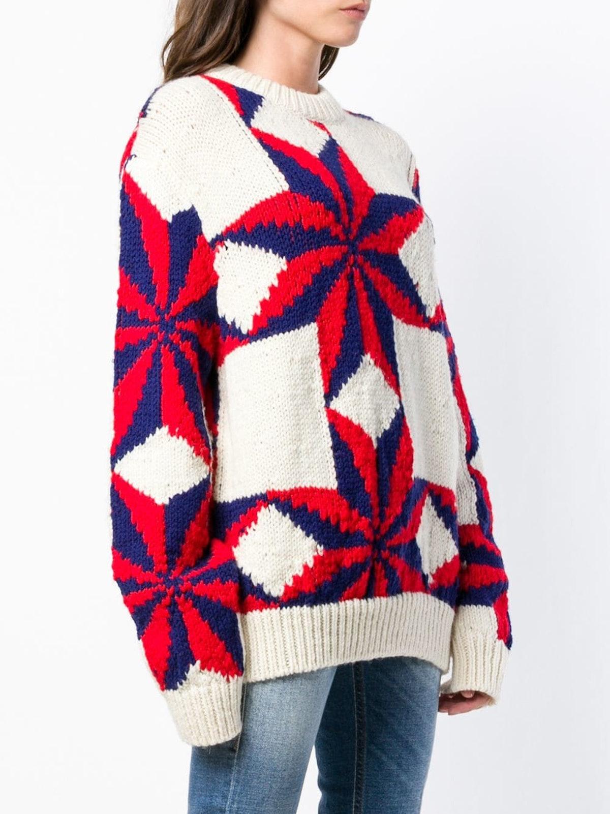 Star Intarsia Knit Jumper