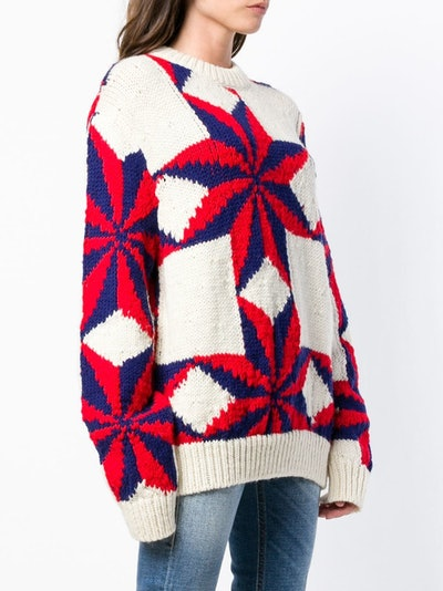 Star Intarsia Knit Jumper