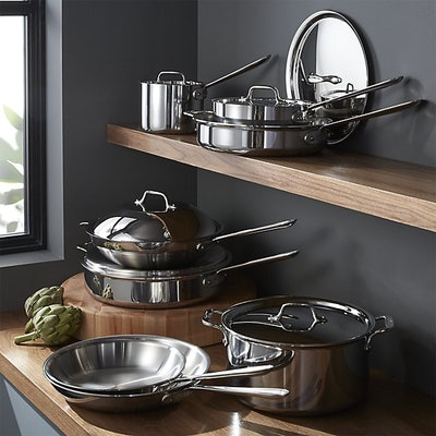 All-Clad ® d3 Stainless 14-Piece Cookware Set with Bonus