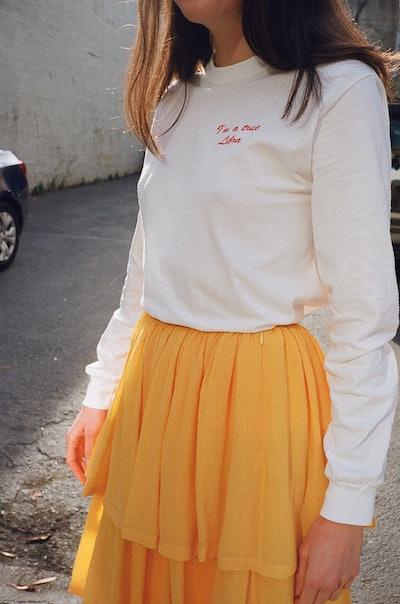 Double Trouble I'm a True Libra L/S T-Shirt - White