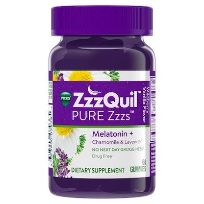 ZzzQuil Vicks PURE Zzzs Melatonin Sleep Aid Gummies
