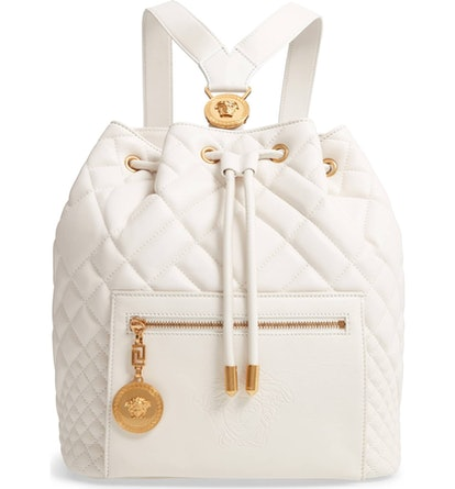 Medusa Quilted Leather Backpack