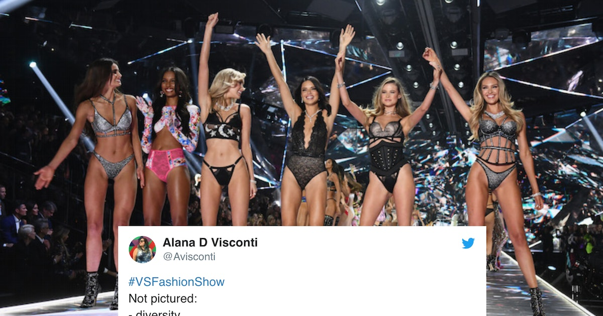 The Tweets About The 2018 VS Fashion Show's Lack Of Diversity Make Great Points
