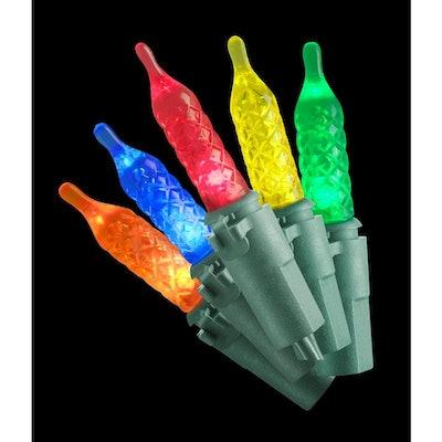 69.6 Ft 200-Light LED Multi-Color Faceted Bulbs