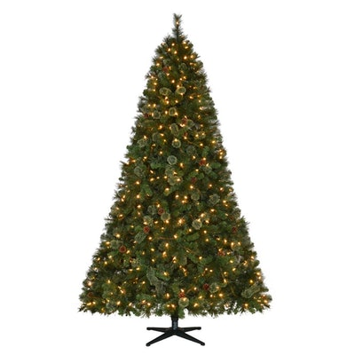 7.5 Ft Pre-Lit LED Alexander Pine Artificial Christmas Tree