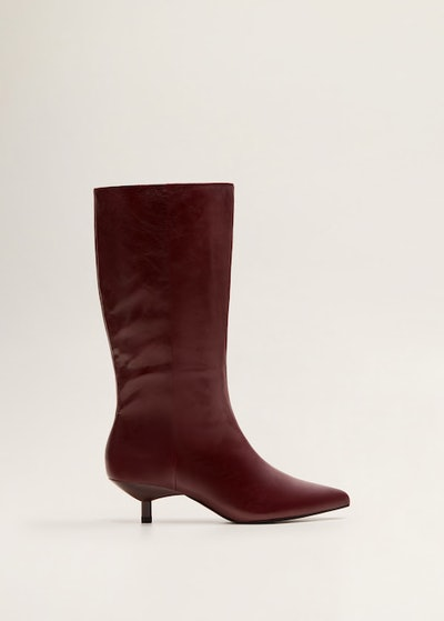 Zipper Leather Boots