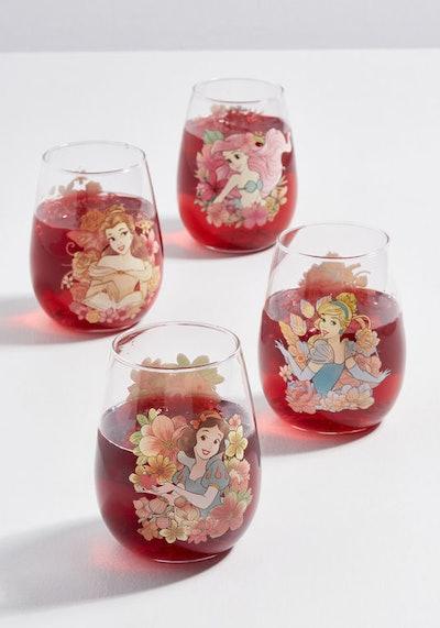 Thriving Icons Disney Princess Glass Set