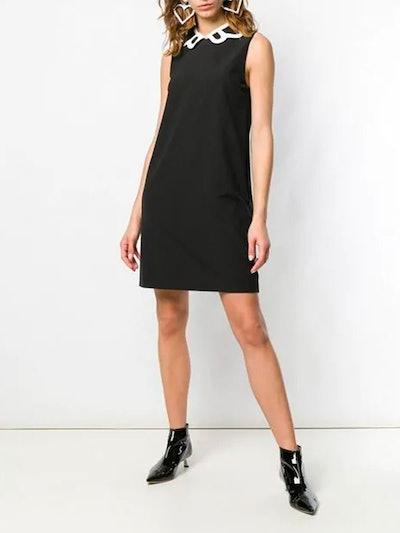 Contrasting Collar Dress