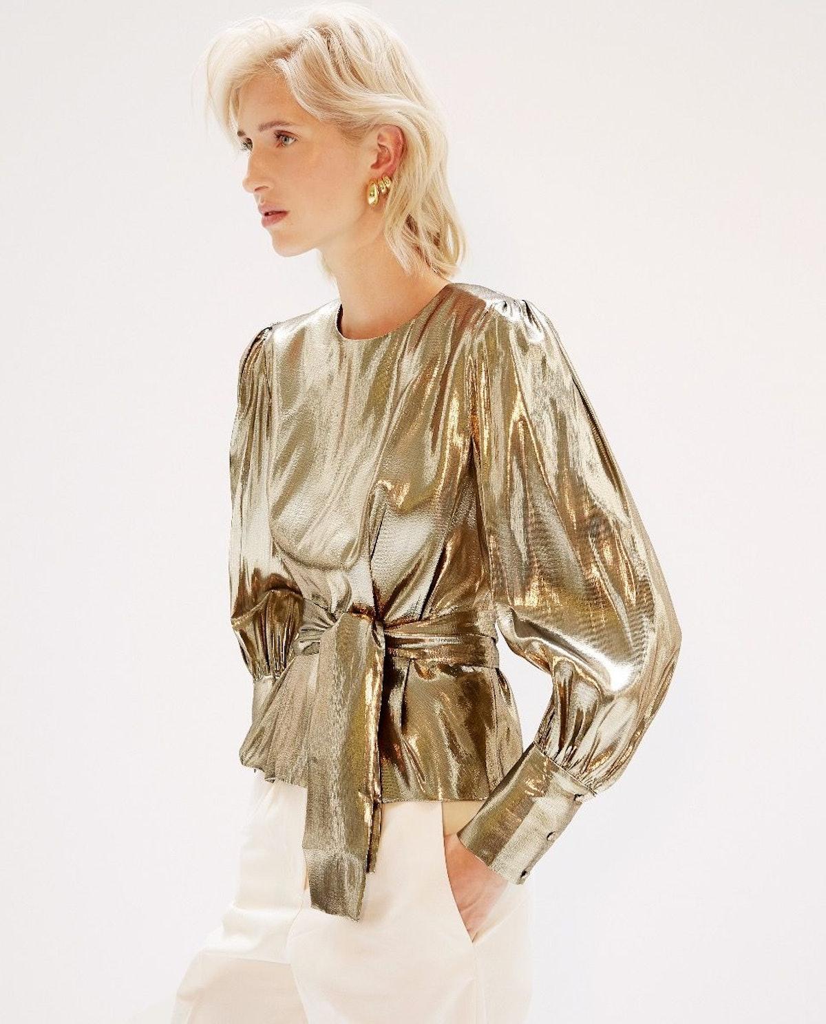 Kara Blouse Gold