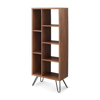 Mainstays Bennett Mid-Century Hairpin Tower Bookcase