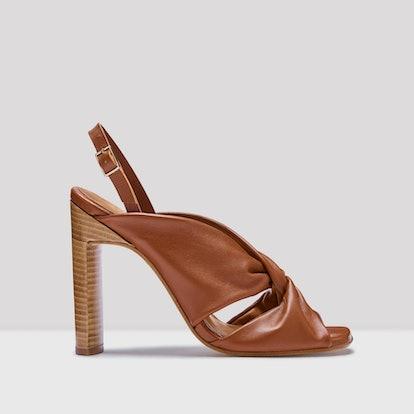 Filipa Walnut Leather Sandals